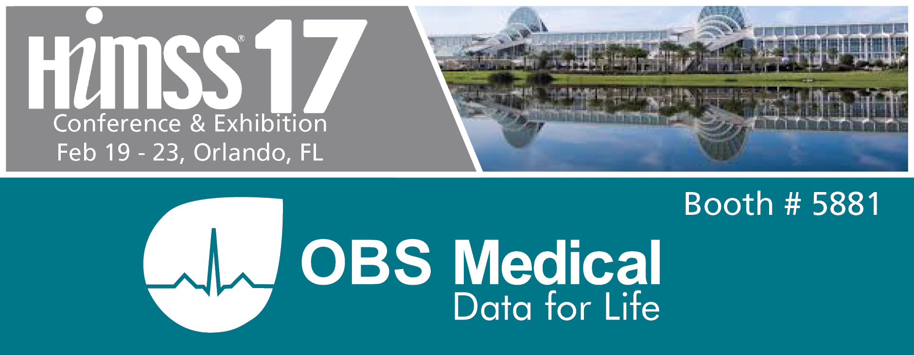 OBS Medical HIMSS17 banner